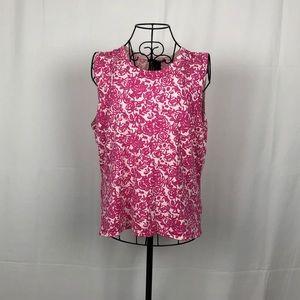 Sarah Spencer silk blend knit rosebud shell XL